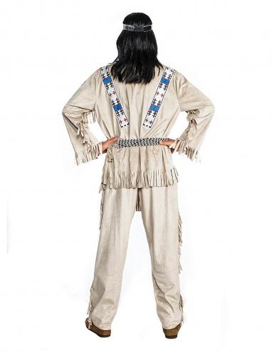 Winnetou™-Indianer-Kostüm für Herren Faschings-Verkleidung beige-blau-1