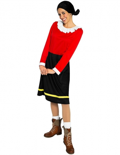 Olivia™ Kostüm für Damen schwarz-rot Popeye™