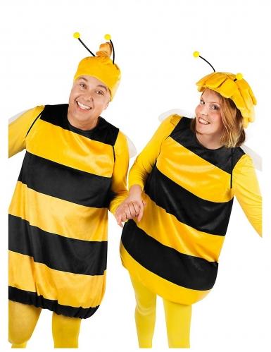 Biene Willi™ und Maja™ Kostüm für Erwachsene gelb-schwarz-1