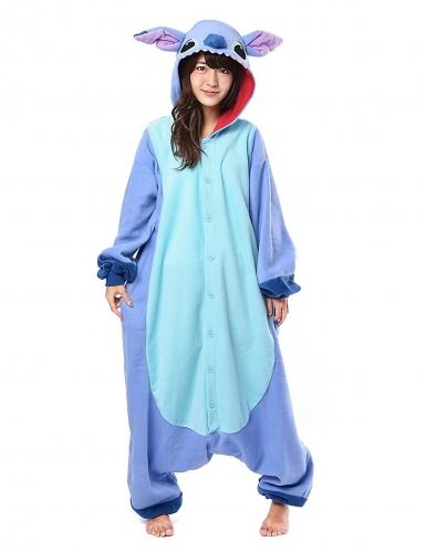 Kigurumi™ Lilo & Stitch™-Overall Kostüm für Erwachsene flieder-blau