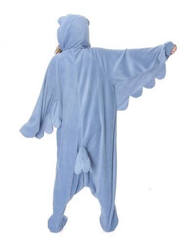 Kigurumi™-Eulen-Kostüm für Erwachsene blau-weiss-1