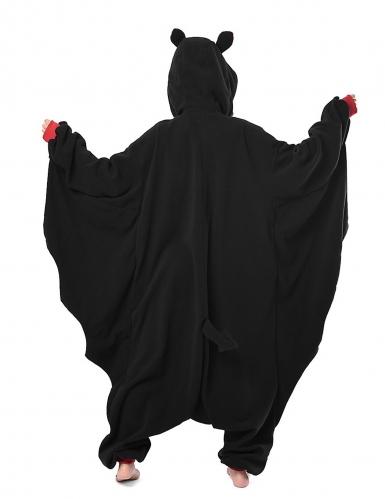 Kigurumi™-Fledermaus-Kostüm für Erwachsene schwarz-grau-rot-1