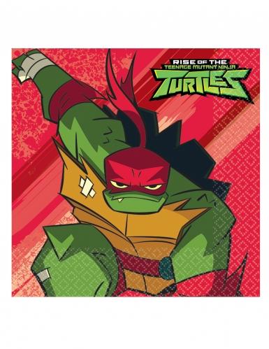 Ninja Turtles™-Servietten Party-Zubehör 16 Stück bunt 33x33cm