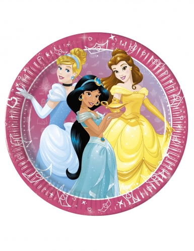Disney™-Pappteller Märchenfiguren Tischzubehör 8 Stück bunt 23cm