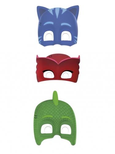 PJ Masks™-Papp-Masken Kostüm-Zubehör für Kinder 6 Stück bunt