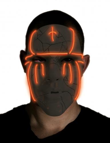 LED-Maske für Erwachsene Halloween-Zubehör schwarz