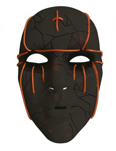 LED-Maske für Erwachsene Halloween-Zubehör schwarz-1