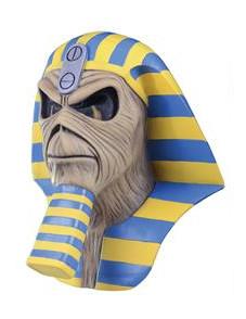 Iron Maiden™-Maske Horror-Maske Powerslave beige-gelb-blau