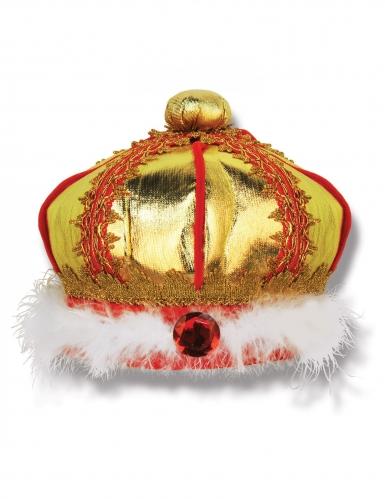 Königs-Krone aus Stoff für Kinder gold