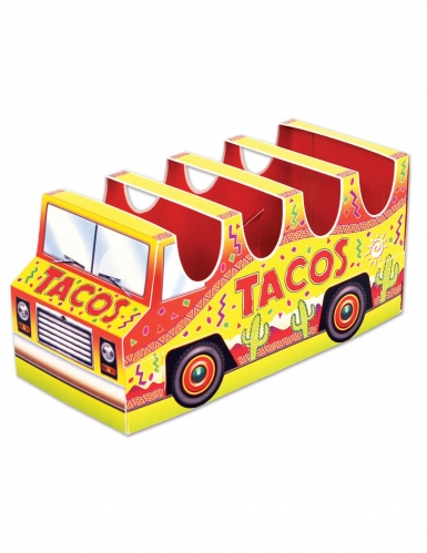 Tacos-Halter aus Pappkarton Mexiko Tischdeko 12 x 25 cm