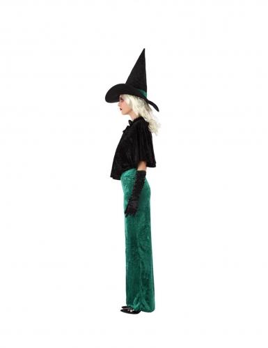 Hexe des Westens Halloween-Damenkostüm grün-schwarz-1