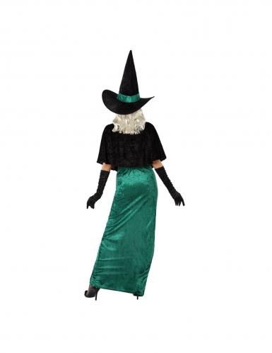 Hexe des Westens Halloween-Damenkostüm grün-schwarz-2