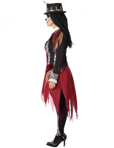 Voodoo-Priesterin-Damenkostüm schwarz-rot-1