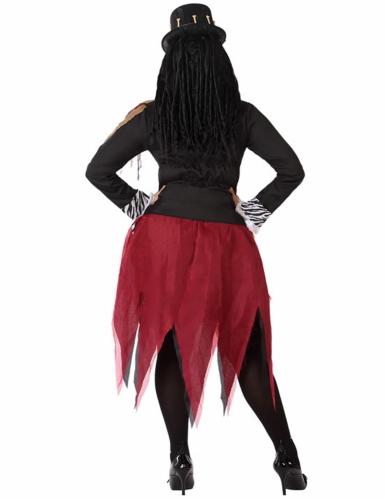 Voodoo-Priesterin-Damenkostüm schwarz-rot-2