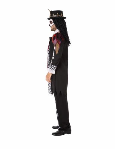 Voodoo-Priester-Herrenkostüm schwarz-1