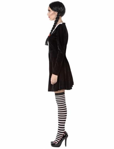 Gruseliges Schulmädchen-Kostüm für Damen schwarz-1