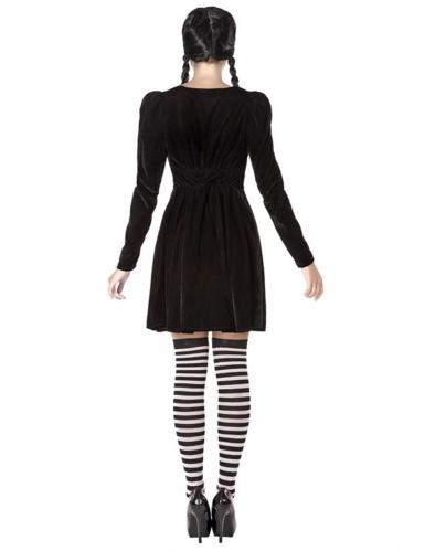 Gruseliges Schulmädchen-Kostüm für Damen schwarz-2
