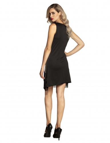 Sexy Charleston-Kleid mit Pfauen-Motiv 20er-Jahre schwarz-gold-1