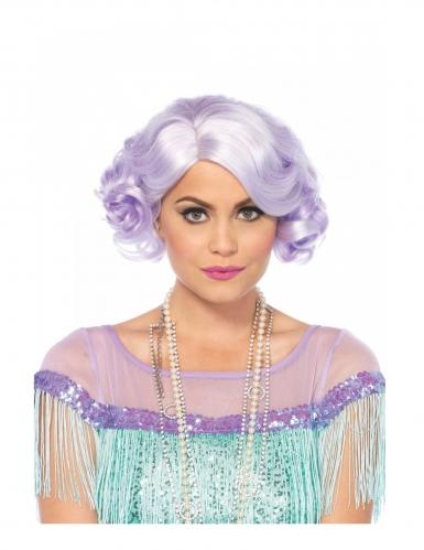 Beamten wählen Qualität zuerst zeitloses Design 20er Jahre Perücke für Damen Kostümzubehör Pastell-Lila