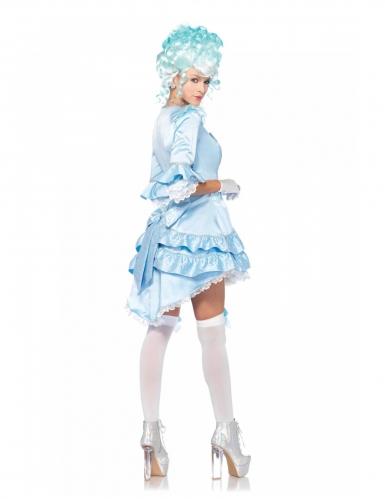 Renaissance-Damenkostüm Barock für Karneval blau-weiss-1