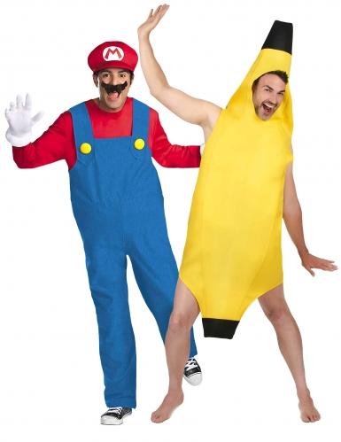 Super Mario™ Paarkostüm mit Banane für Erwachsene