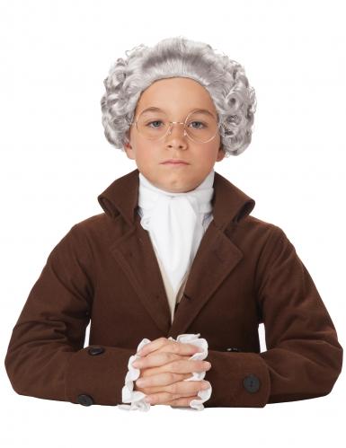 Barock-Perücke für Kinder Faschings-Accessoire grau