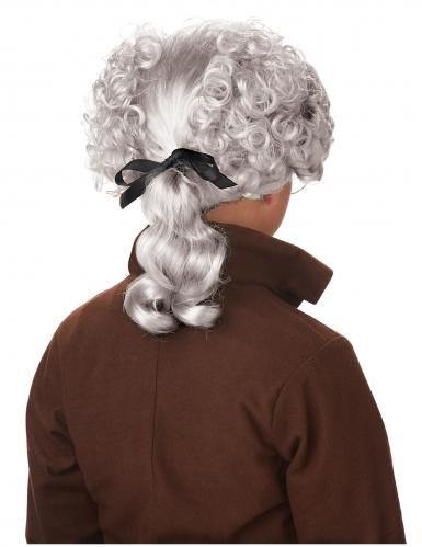 Barock-Perücke für Kinder Faschings-Accessoire grau -1