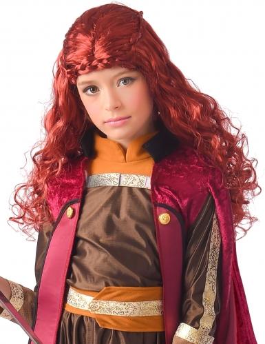 Prinzessinnen-Perücke für Mädchen Kostüm-Zubehör rot-braun