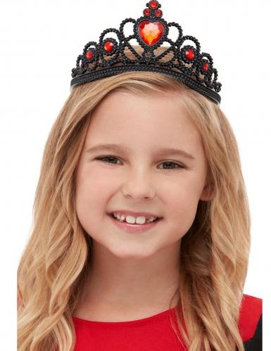 Gothic-Diadem für Kinder Halloween-Accessoire schwarz-rot