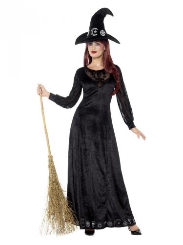 Magisches Hexenkostüm für Damen Halloween schwarz