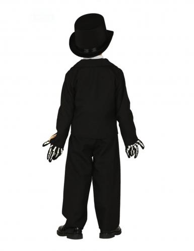 Charmantes Skelett-Kostüm für Jungen Halloween schwarz-beige-1