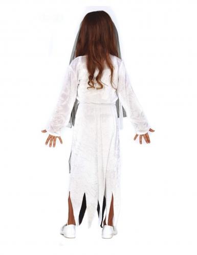 Geisterbraut-Mädchenkostüm für Halloween schwarz-weiss-1