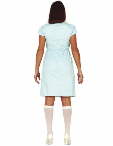 Gespenster-Kostüm für Damen Halloween-Verkleidung blau-weiss-1