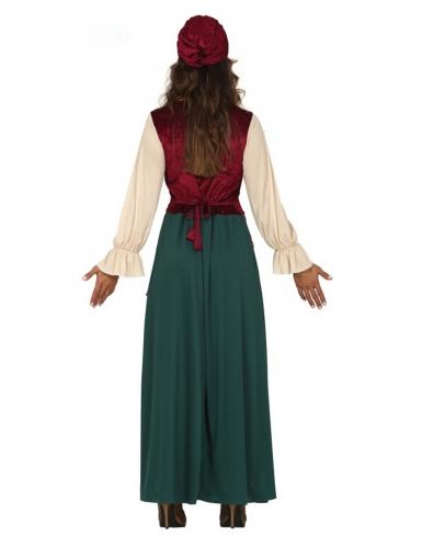 Geheimnisvolle Wahrsagerin Karnevals-Kostüm für Damen grün-rot-1