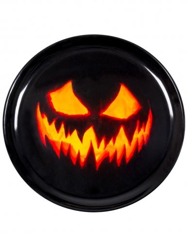 Tablett Halloween-Kürbis Partyzubehör schwarz-orange 34,5 cm -1