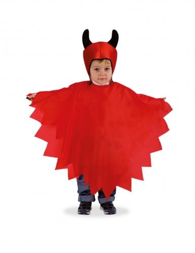 Satansbraten Kinderkostüm für Halloween rot-schwarz