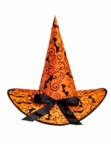 Hexenhut Arabeskenmuster orange 36 cm-1