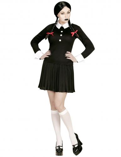 Gothic Schulmädchen Kostüm für Damen Halloween-1