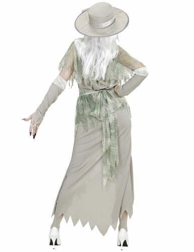 Edles Geisterkostüm für Damen Halloween-Verkleidung grau-grün-3