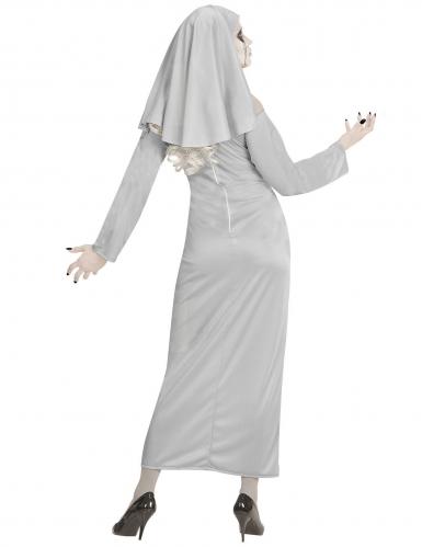 Gespenstisches Nonnen-Kostüm für Damen Geister-Nonne grau-3