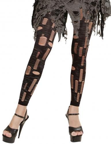 Zombie-Leggings mit Fetzen Halloween-Zubehör grau