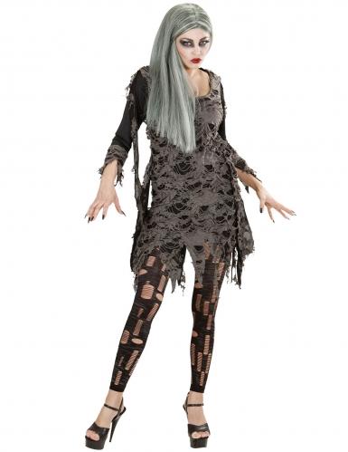 Zombie-Leggings mit Fetzen Halloween-Zubehör grau-1