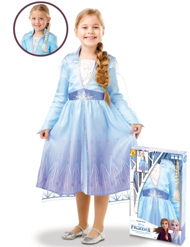 Frozen 2™-Elsa-Kleid für Mädchen Disney-Verkleidung blau-lila