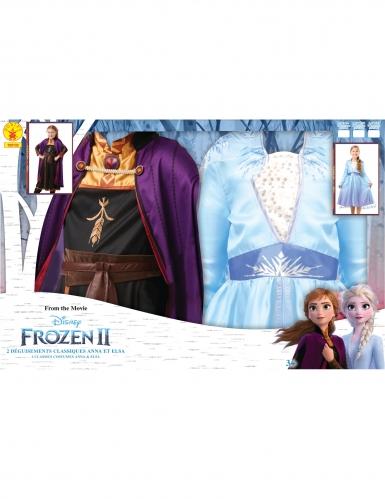 Frozen 2™-Paarkostüm für Kinder Anna & Elsa Kostüm-Set bunt-2