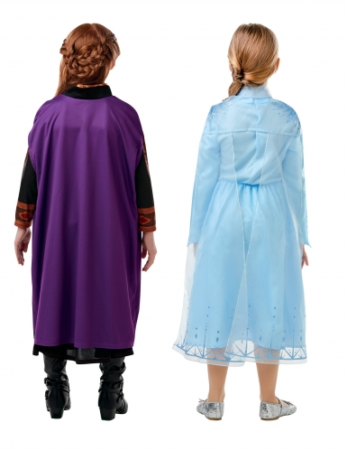 Frozen 2™-Paarkostüm für Kinder Anna & Elsa Kostüm-Set bunt-1
