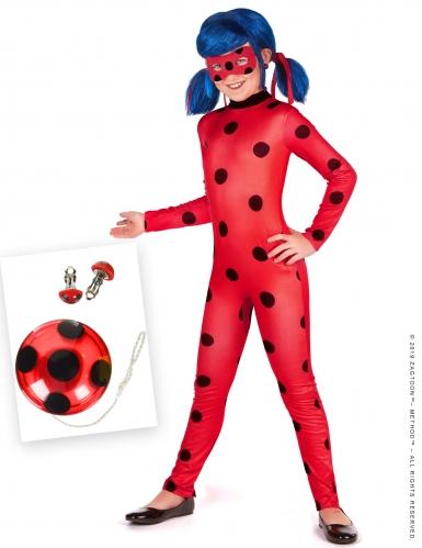 Offizielles Ladybug Miraculous™-Kostüm-Set für Kinder 5-teilig rot-schwarz