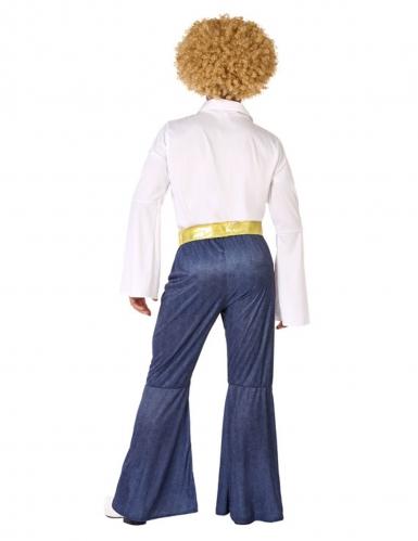 70´s-Disco-Kostüm für Herren Karnevals-Verkleidung weiss-blau-2