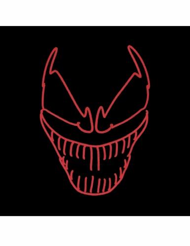 Leuchtmaske-Killerclown für Erwachsene Halloween schwarz-rot-1
