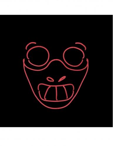Leuchtende Kannibalen-Maske für Halloween schwarz-rot-1