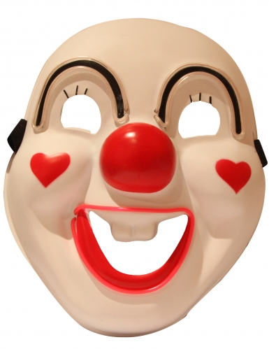 Hochwertige LED-Clownmaske für Erwachsene Halloween bunt